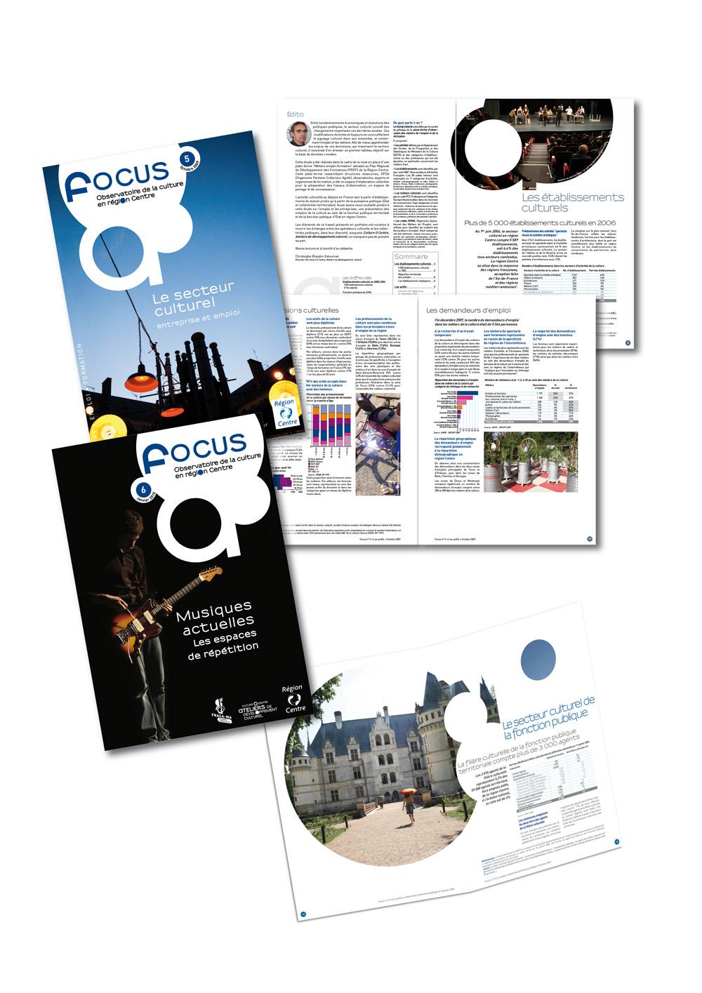 """Conception du magazine institutionnel """"Focus"""""""