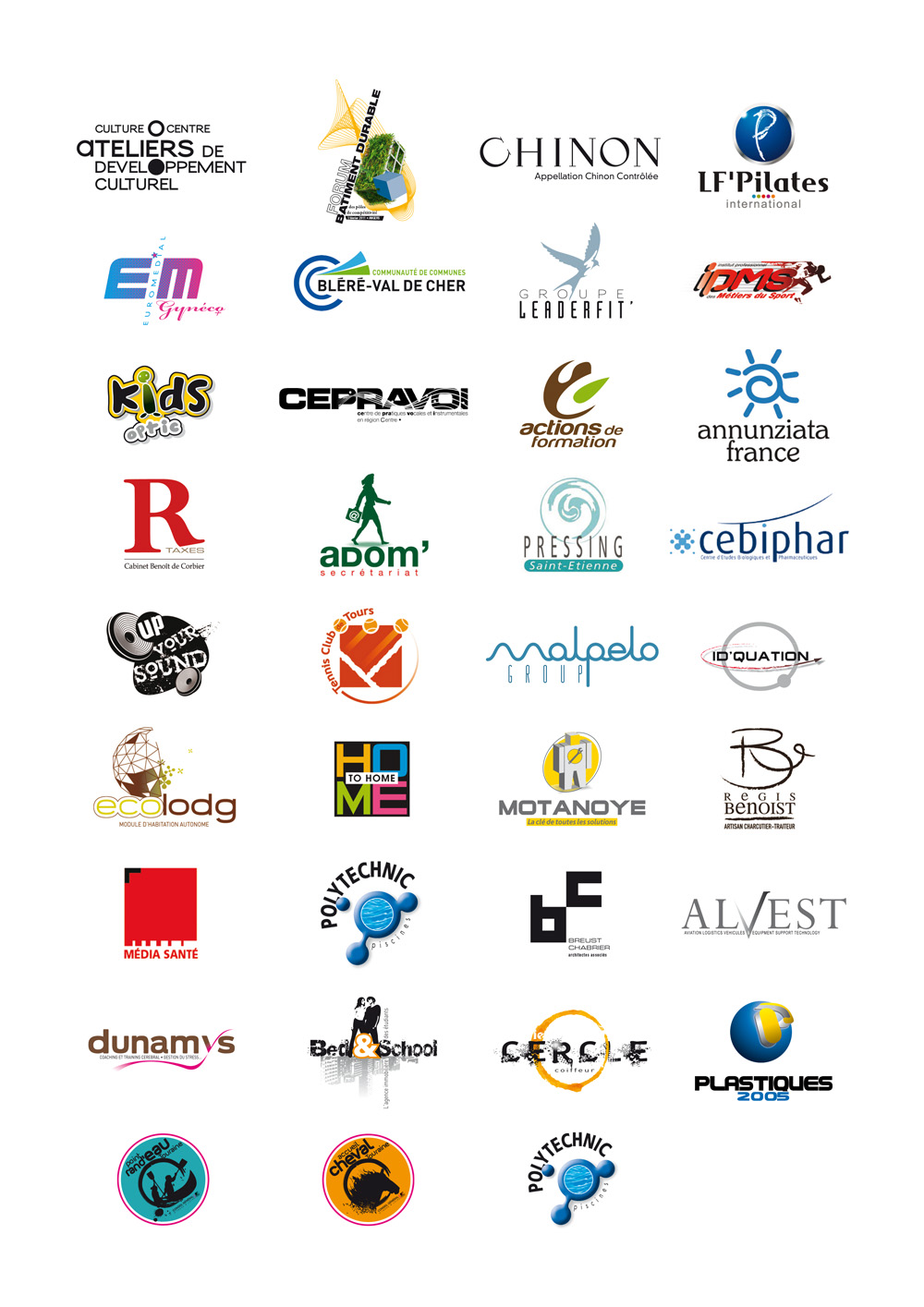 Conception de logos pour artisan PMI-PME, institutionnels, industriels, festivals