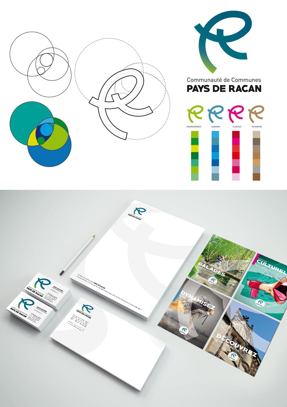 Conception d'un logo et d'une charte graphique pour la Communauté de communes Pays de Racan