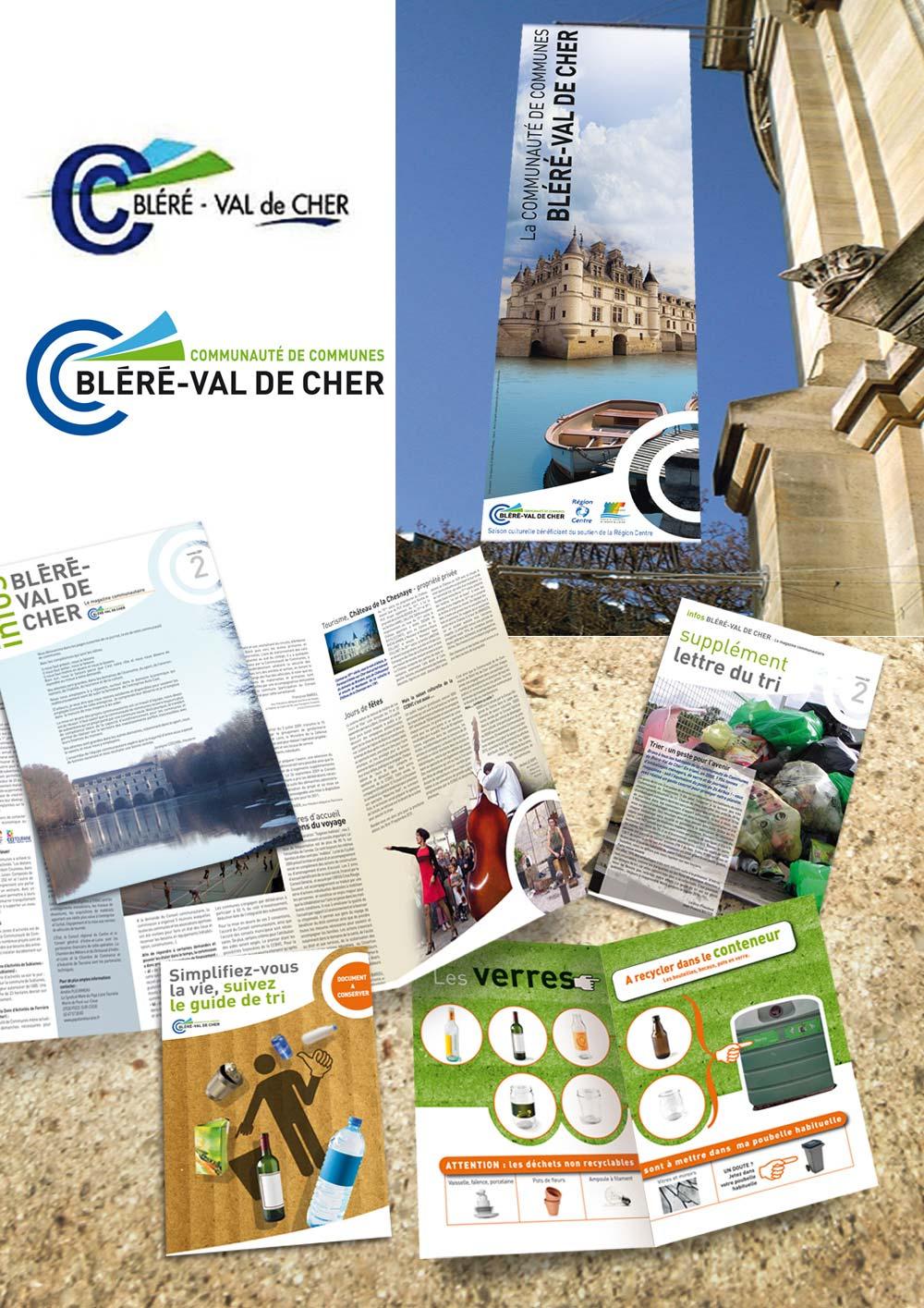 Logo, plaquette, brochure, kakemono, communauté de communes Bléré Val de Cher