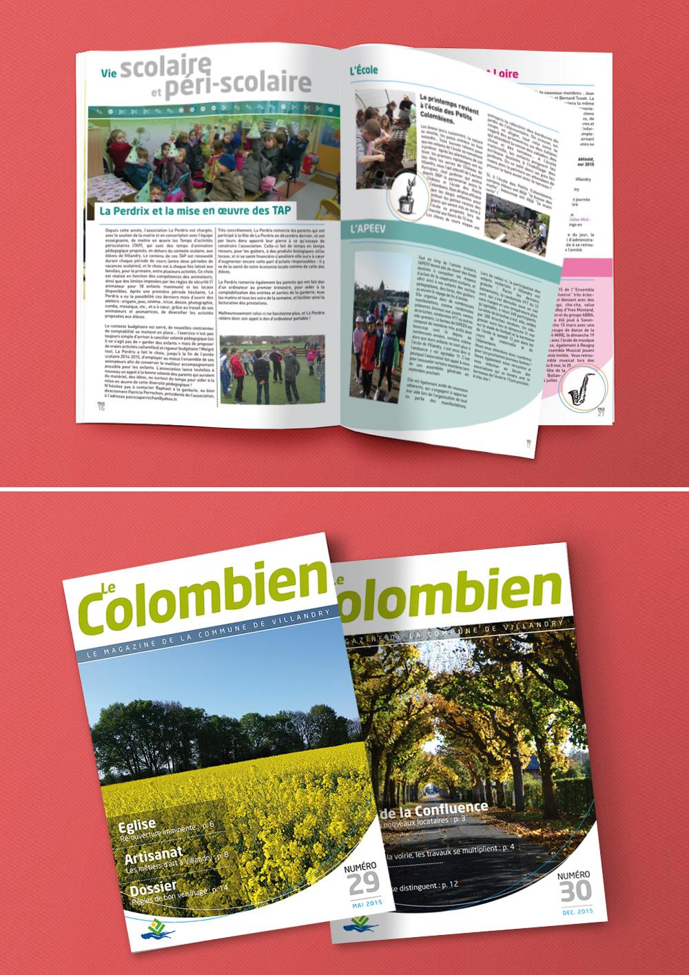 Refonte et conception du magazine municipal de Villandry Le Colombien