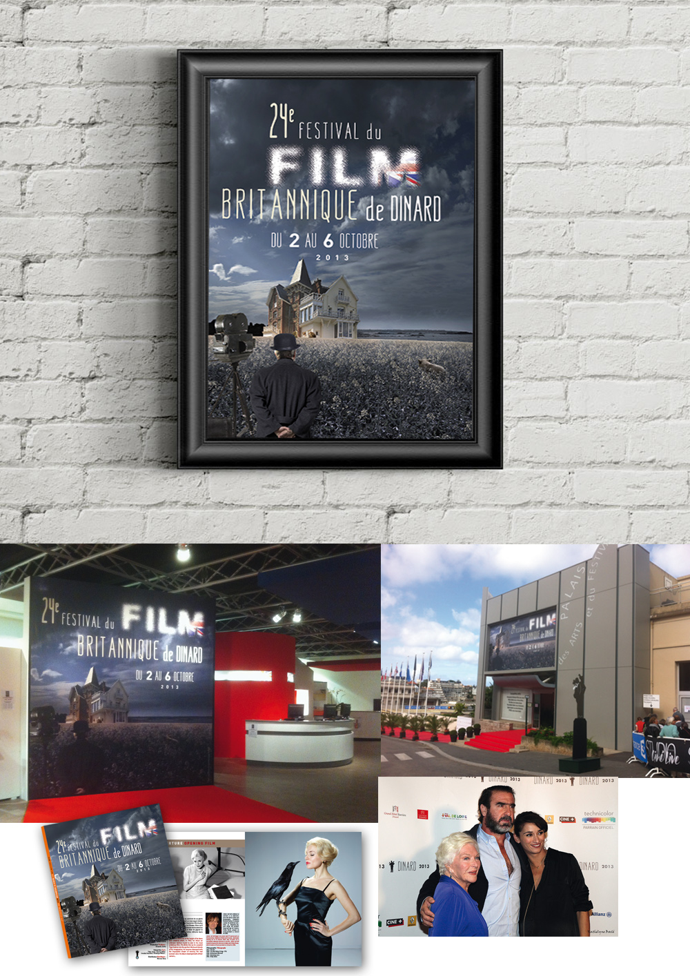 Conception des supports de communication pour le Festival du Films britannique de Dinard (affiche, brochure, invitation, catalogues)