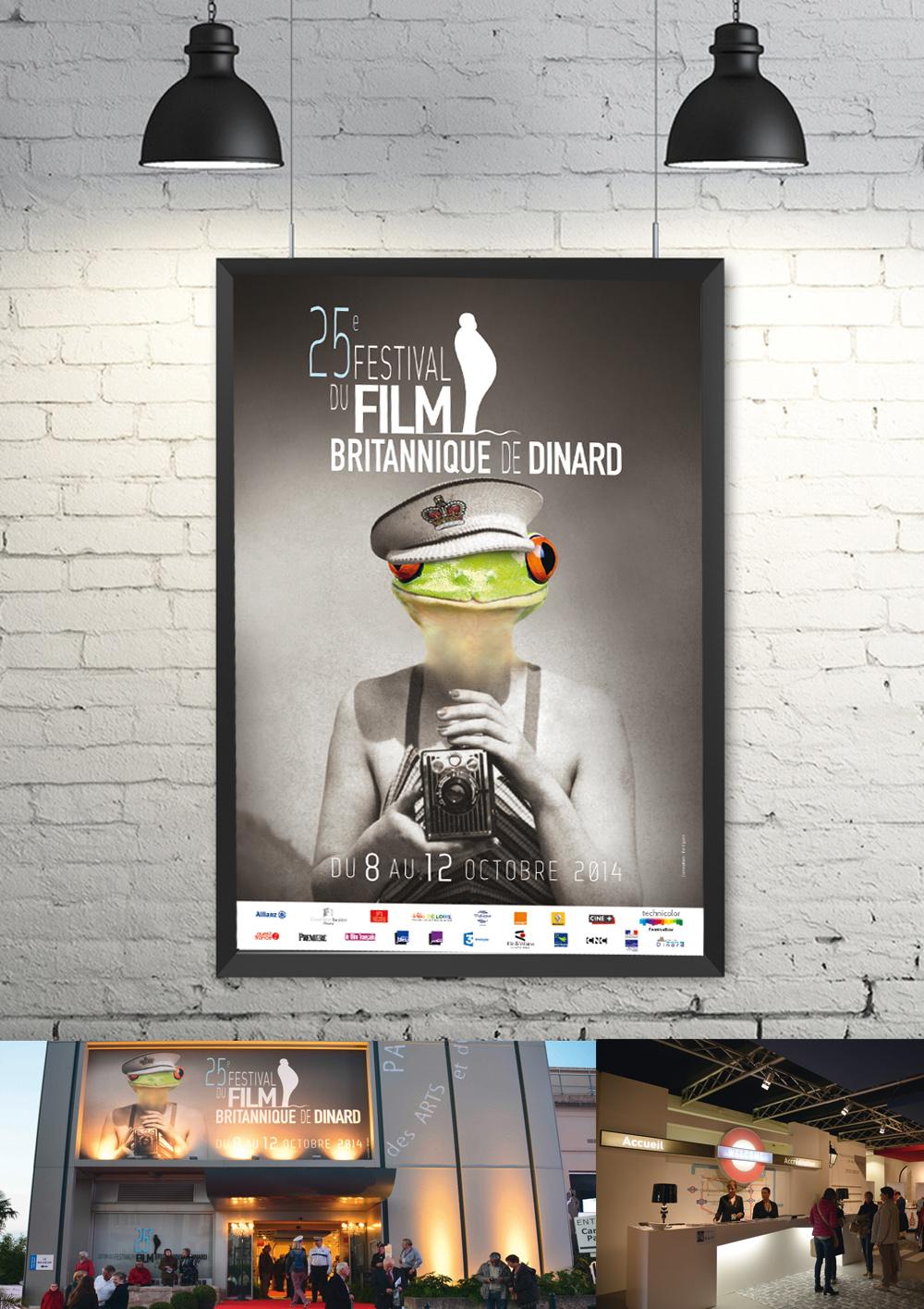 Conception des supports de communication pour le Festival du Films britannique de Dinard (affiche, brochure, invitation, catalogues)