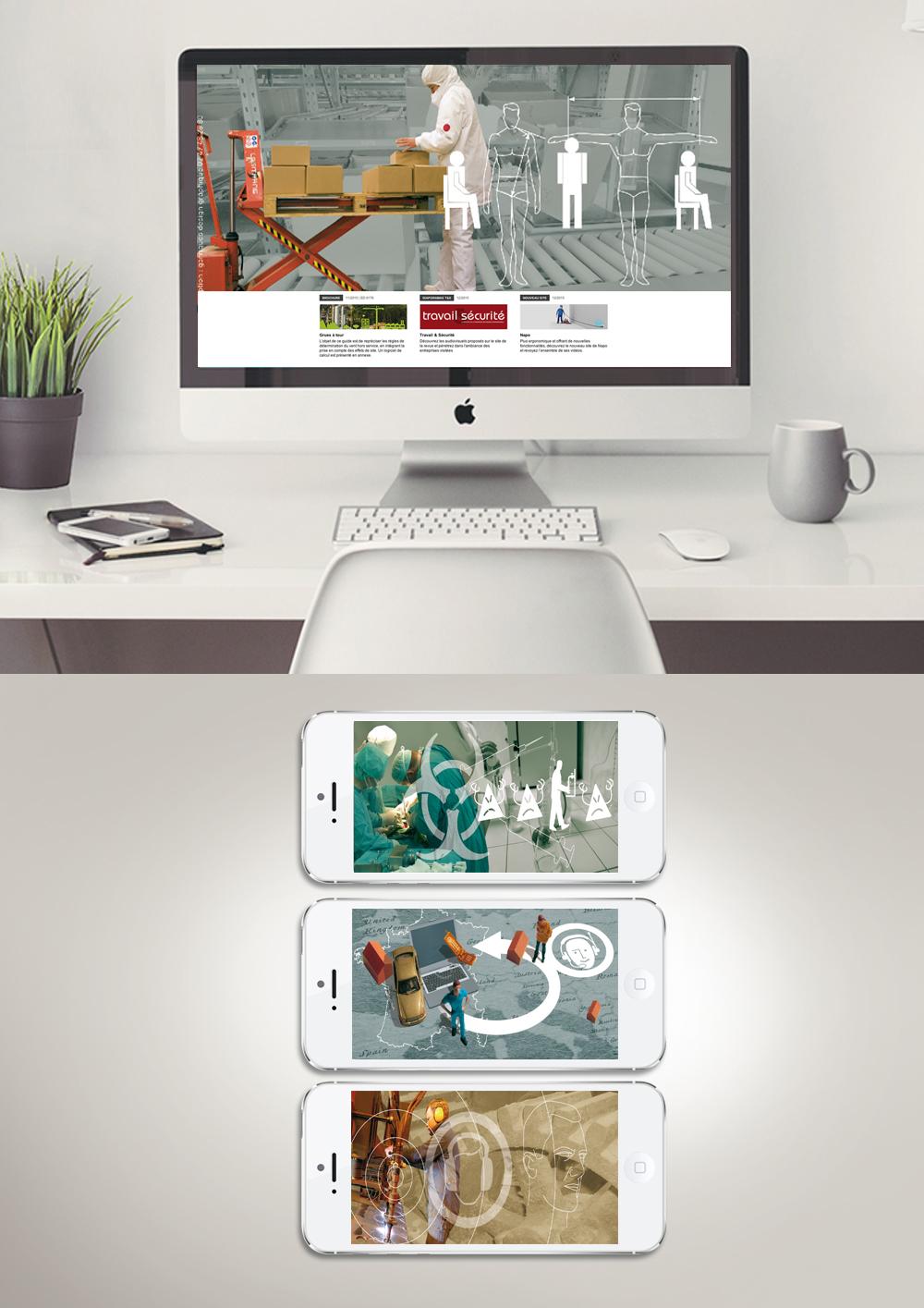 conception et création de visuels d'accueil de site web pour l'INRS