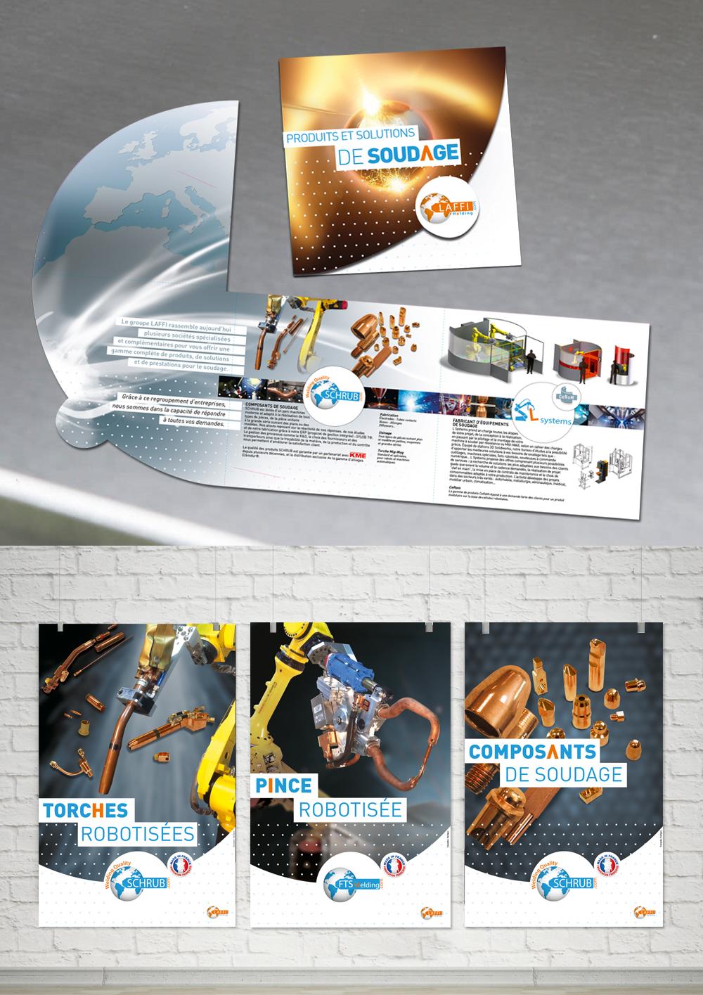 Création de plaquettes, brochures, stand, dérouleurs, calendriers, affiches
