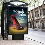 Conception des supports de communication pour le Festival Toros Y Salsa (affiches, programme, invitation...)