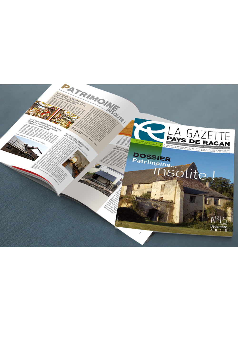Refonte et conception du magazine de la Communauté de communes Pays de Racan
