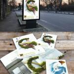 Conception des supports de communication pour la Glroriette et le festival de cerfs volants (affiches, programme, invitation...)