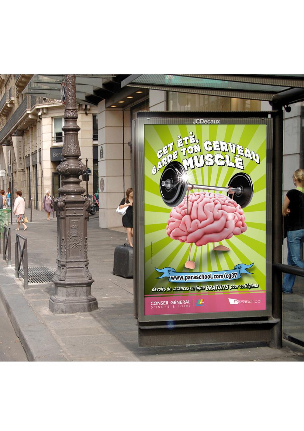 """Conception d'une affiche """"aide aux devoirs"""" pour le Conseil départemental"""