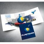 Conception d'une plaquette 3 volets 6 pages A4 pour Plastiques 2005
