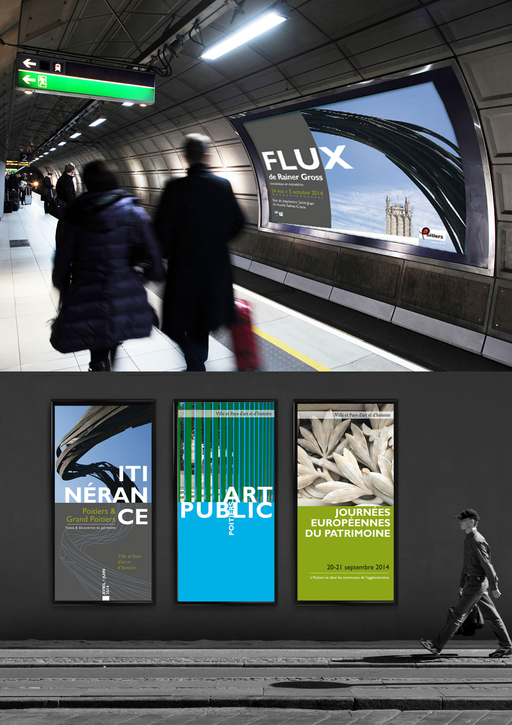 Conception d'affiches, de brochure et de dépliants institutionnels pour la communauté de communes Grand Poitiers