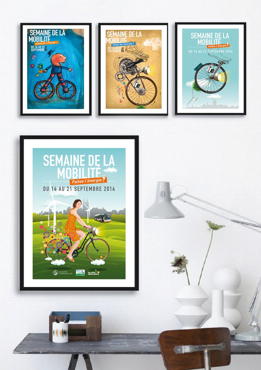 """Conception d'une affiche """"mobilité"""" pour la ville de Quimper"""