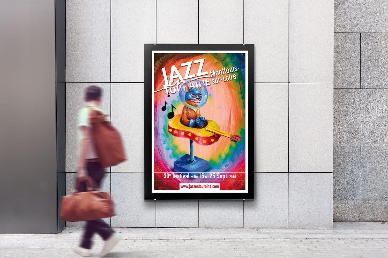 [Création] [Affiche] Festival Jazz en Touraine 2016