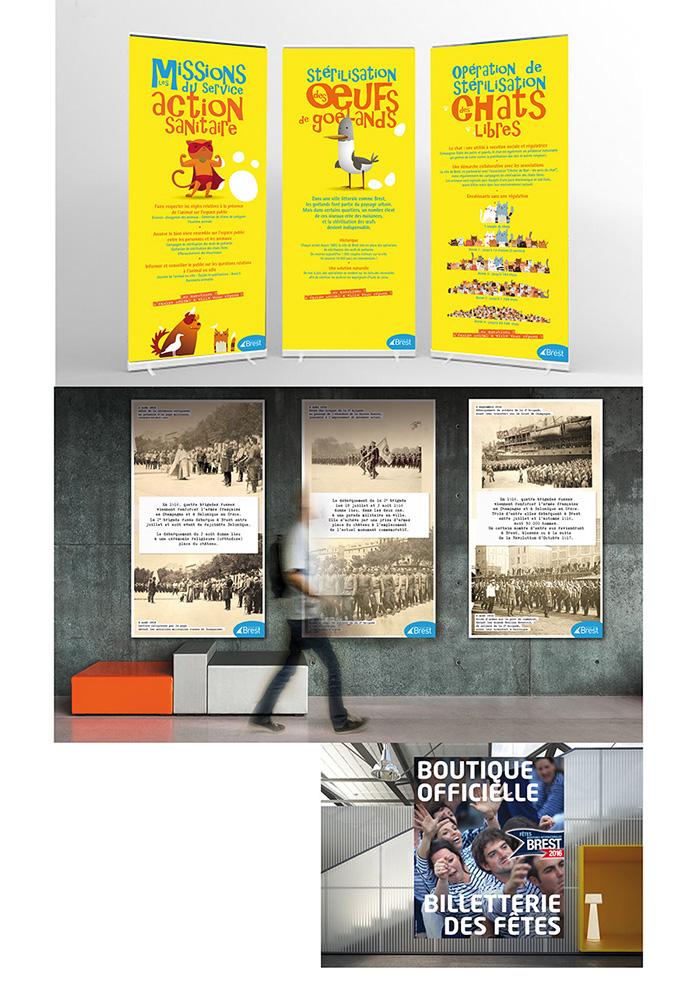 Panneau exposition ville de Brest