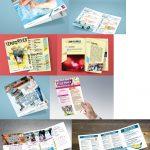 conception de différents supports de communication pour la ville d'angers et angers loire métrople flyer, affiche plaquette, tract brochure
