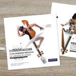 Création des brochures Conservatoire de la ville de Poitiers