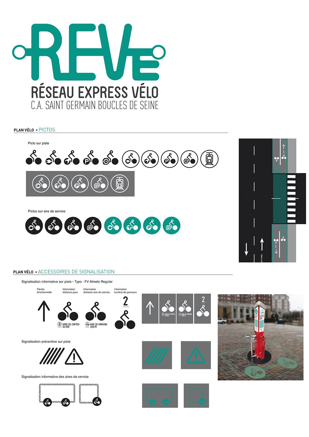logo identité visuelle vélo piste cyclable