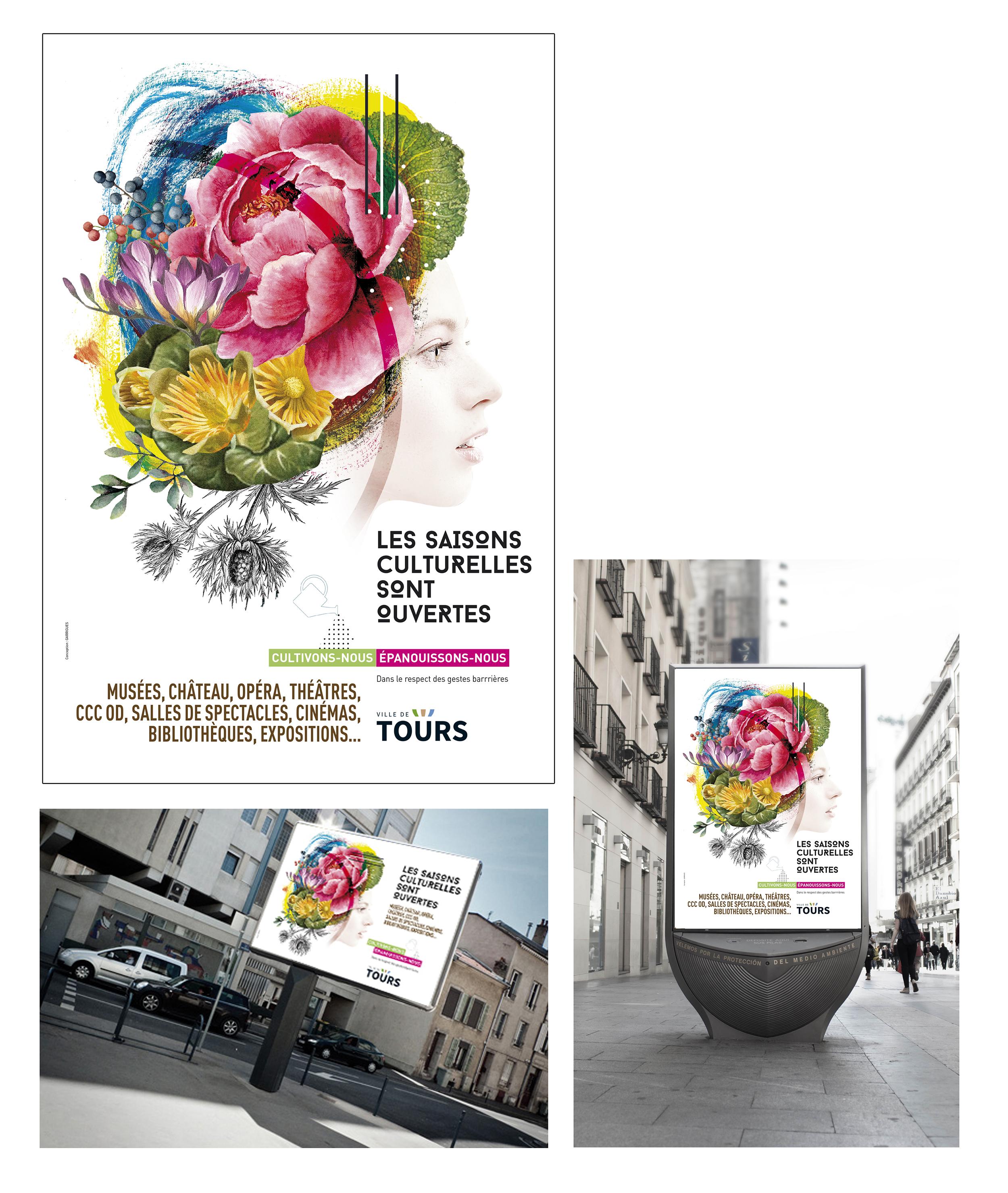 création graphique conception visuel affiche saison culturelle Tours