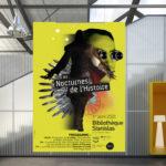 Nancy bibliothèque nocturne histoire affiche conception création graphique visuel communication