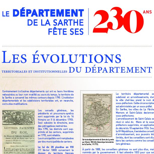 Exposition sur les 230 ans du département