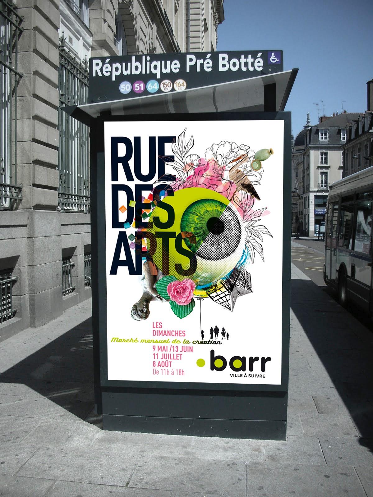 affiche visuel conception création art rue Barr graphique design gratic poster grahisme communication visuel