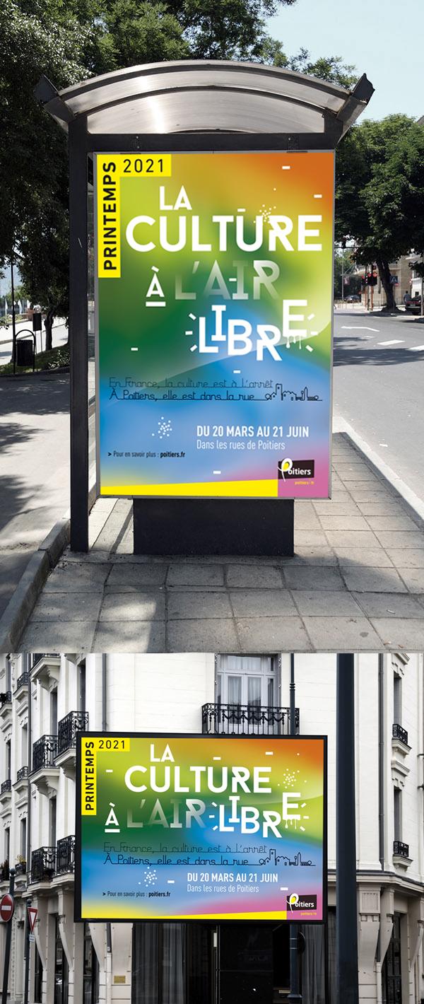 affiche visuel culture Poitiers création conception graphique ville agglomération