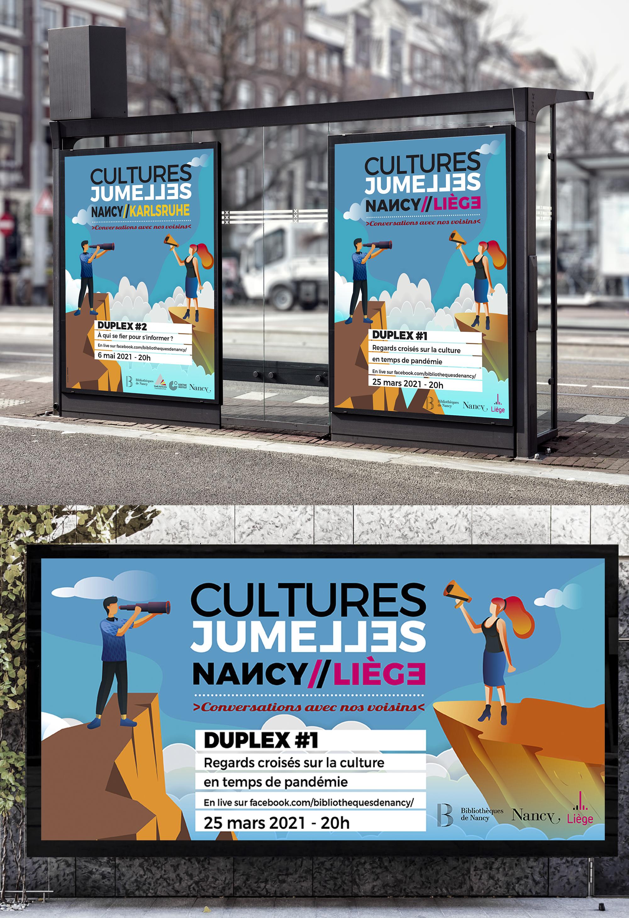 affiche culture Nancy bibliothèque création graphique communication visuel conception design graphique ville